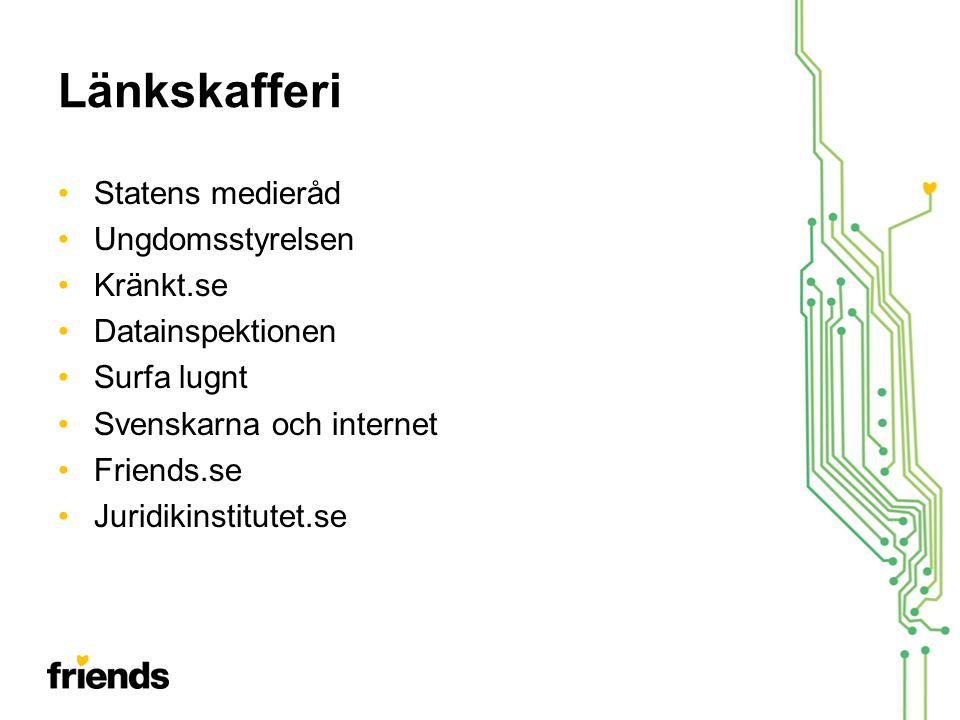 Länkskafferi Statens medieråd Ungdomsstyrelsen Kränkt.se