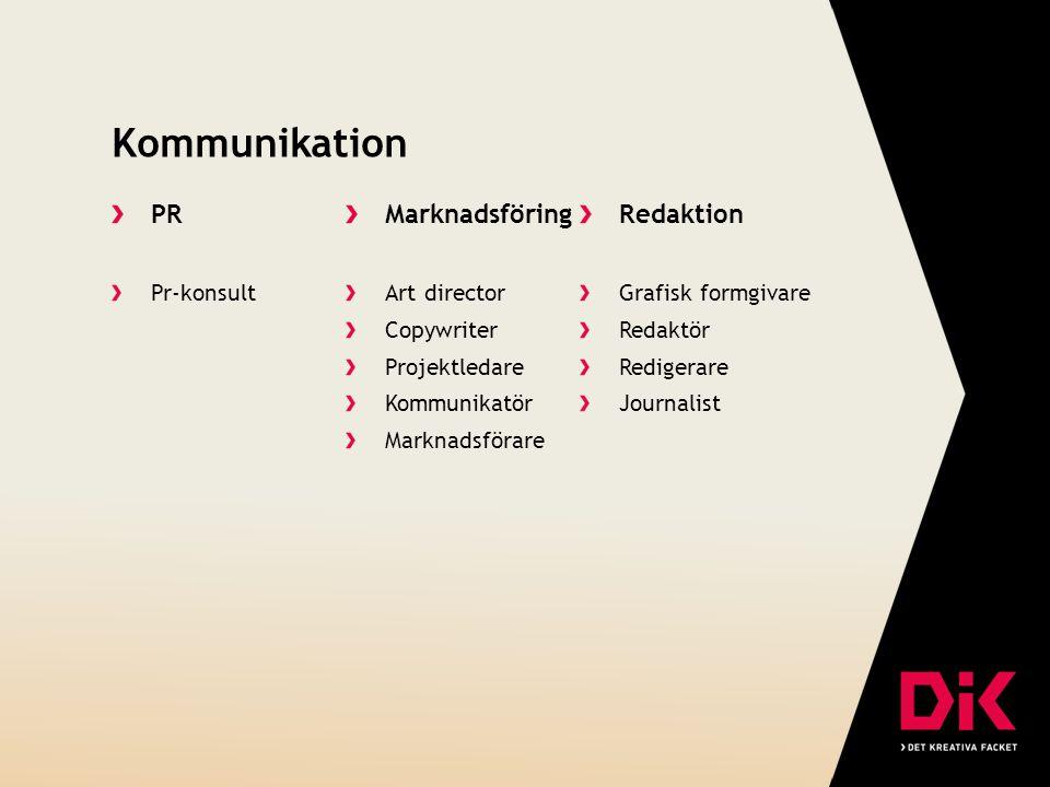 Kommunikation PR Marknadsföring Redaktion Pr-konsult Art director