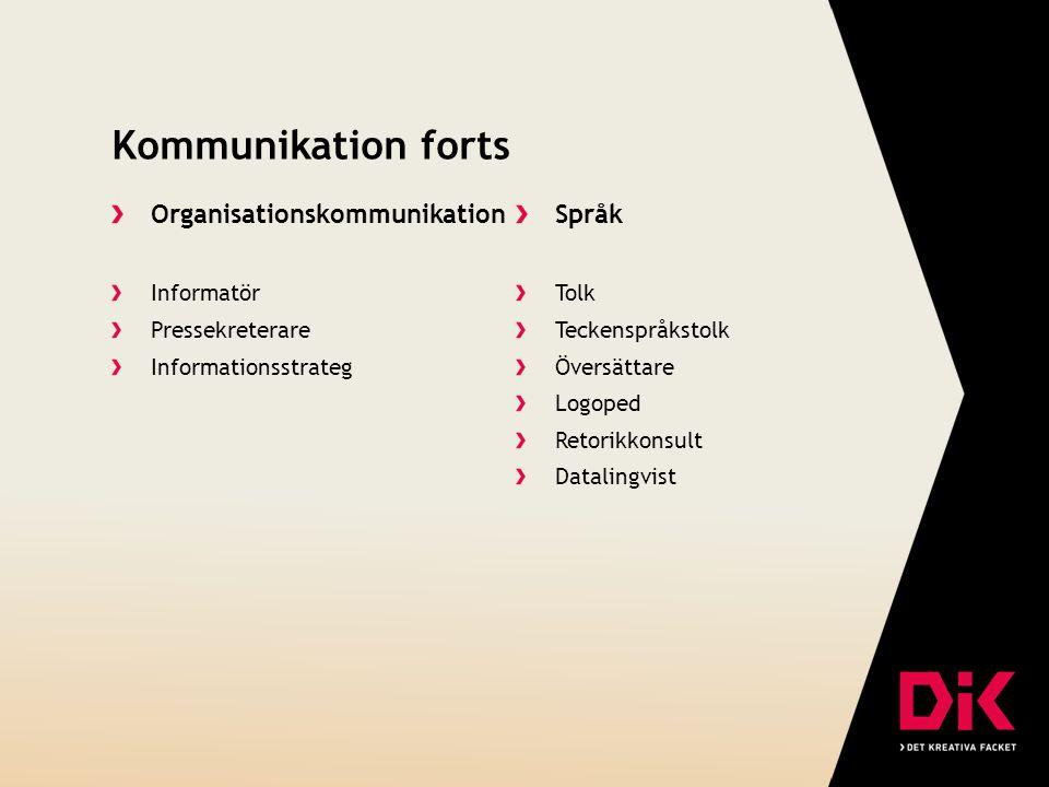 Kommunikation forts Organisationskommunikation Språk Informatör Tolk