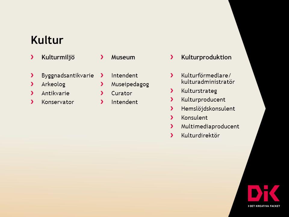 Kultur Kulturmiljö Museum Kulturproduktion Byggnadsantikvarie