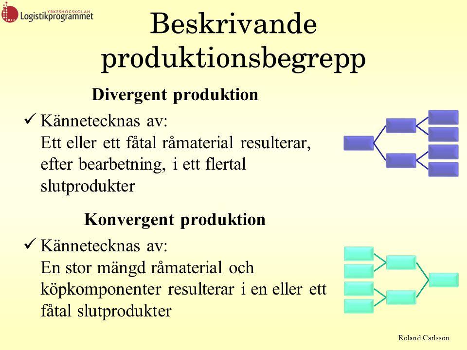 Beskrivande produktionsbegrepp