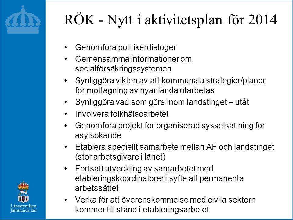 RÖK - Nytt i aktivitetsplan för 2014