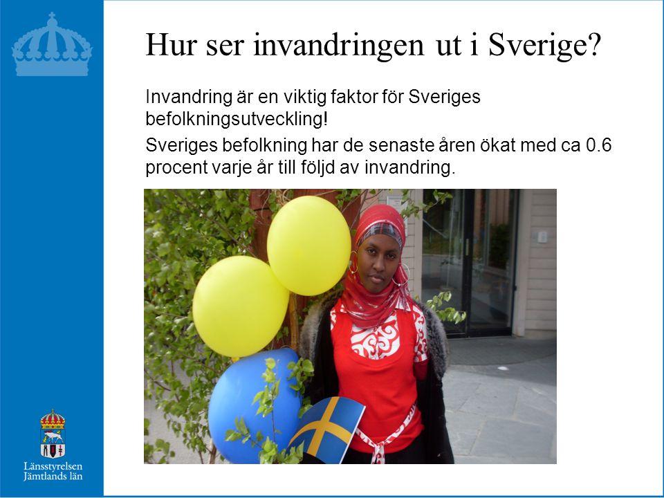 Hur ser invandringen ut i Sverige