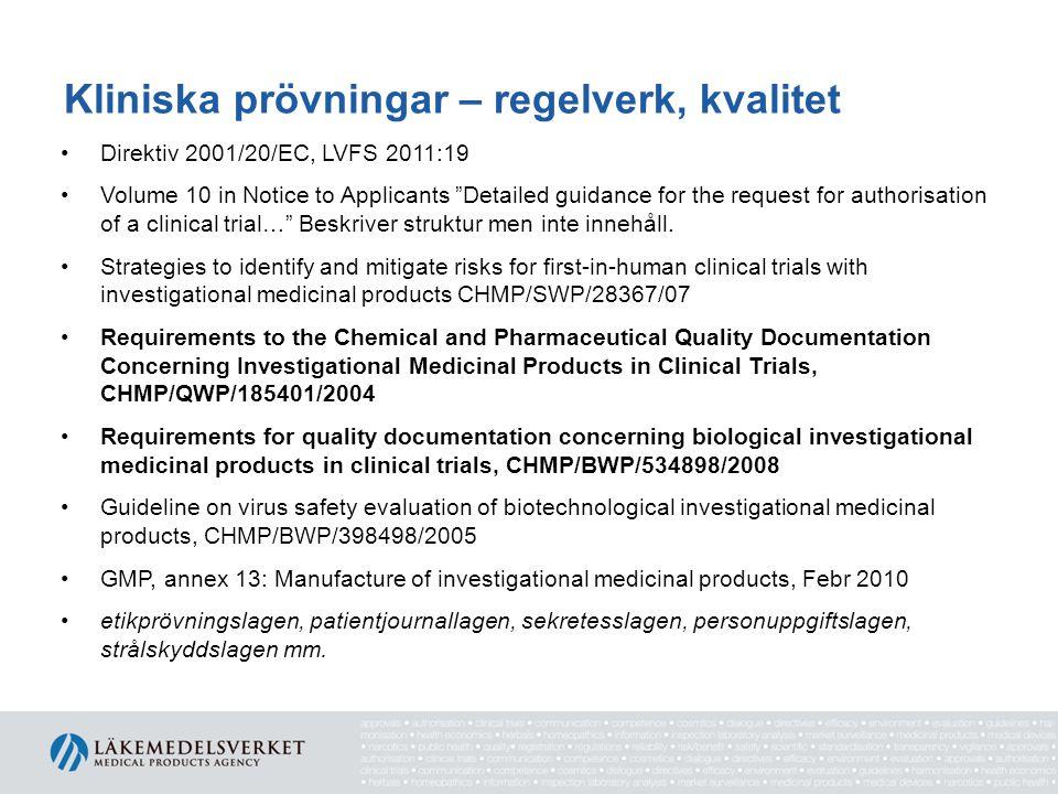Kliniska prövningar – regelverk, kvalitet