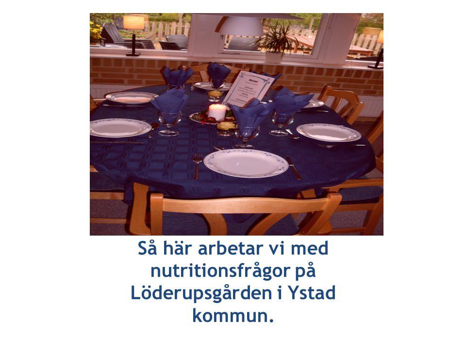 Så här arbetar vi med nutritionsfrågor på Löderupsgården i Ystad kommun.