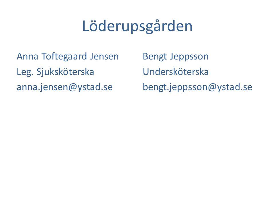 Löderupsgården Anna Toftegaard Jensen Leg.