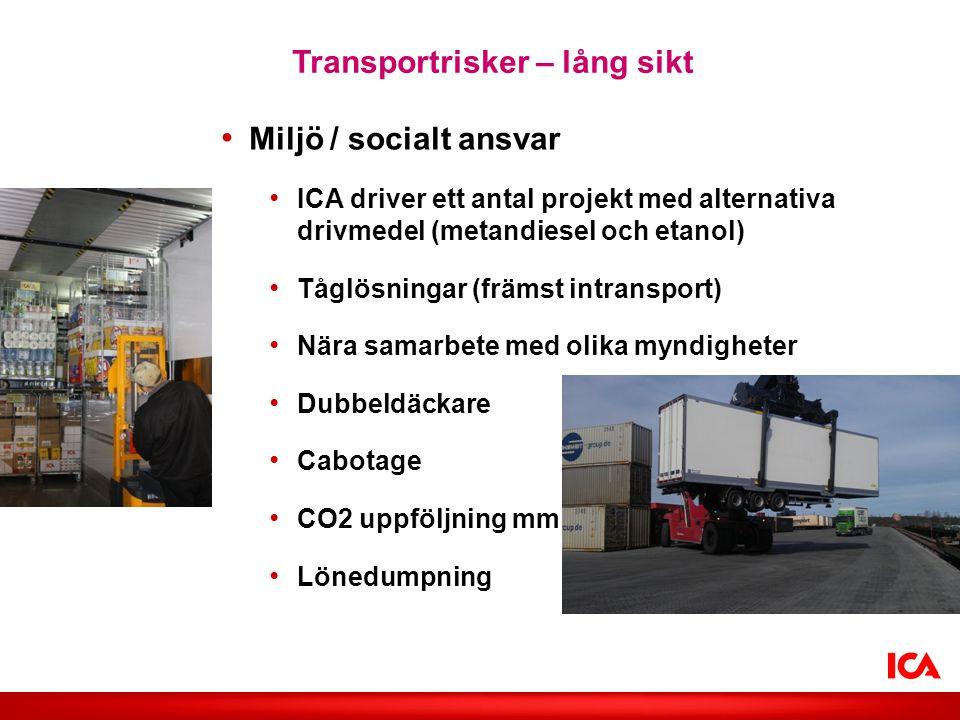 Transportrisker – lång sikt