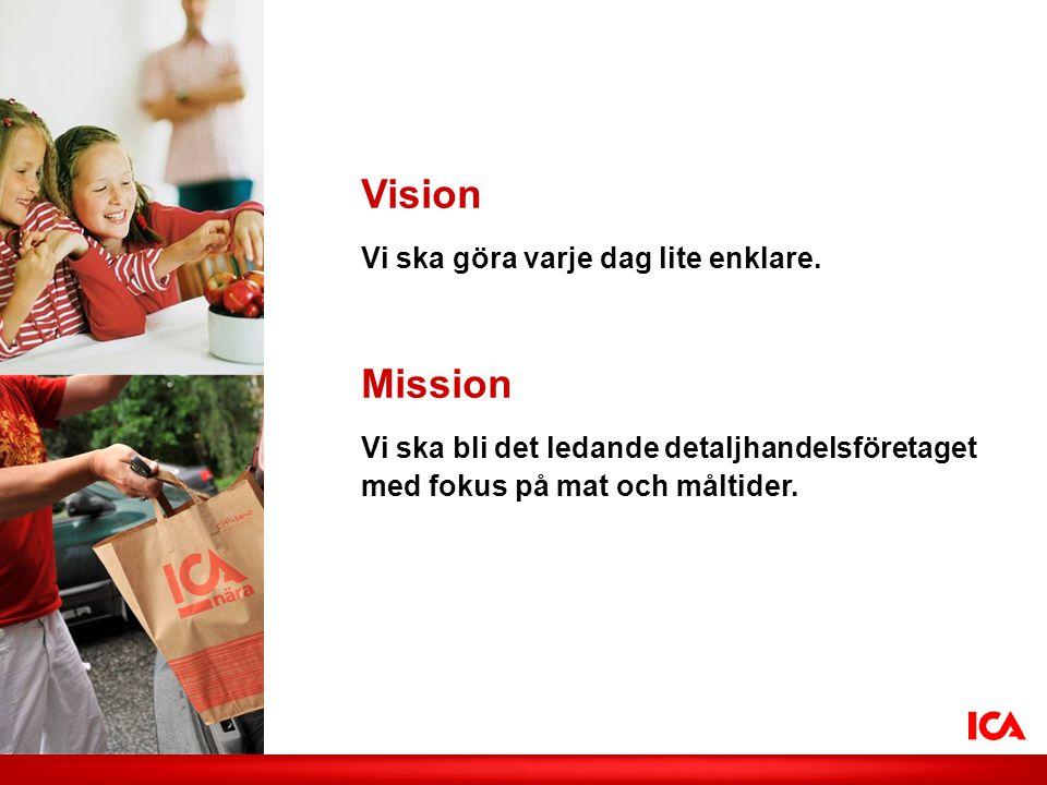 Vision Mission Vi ska göra varje dag lite enklare.