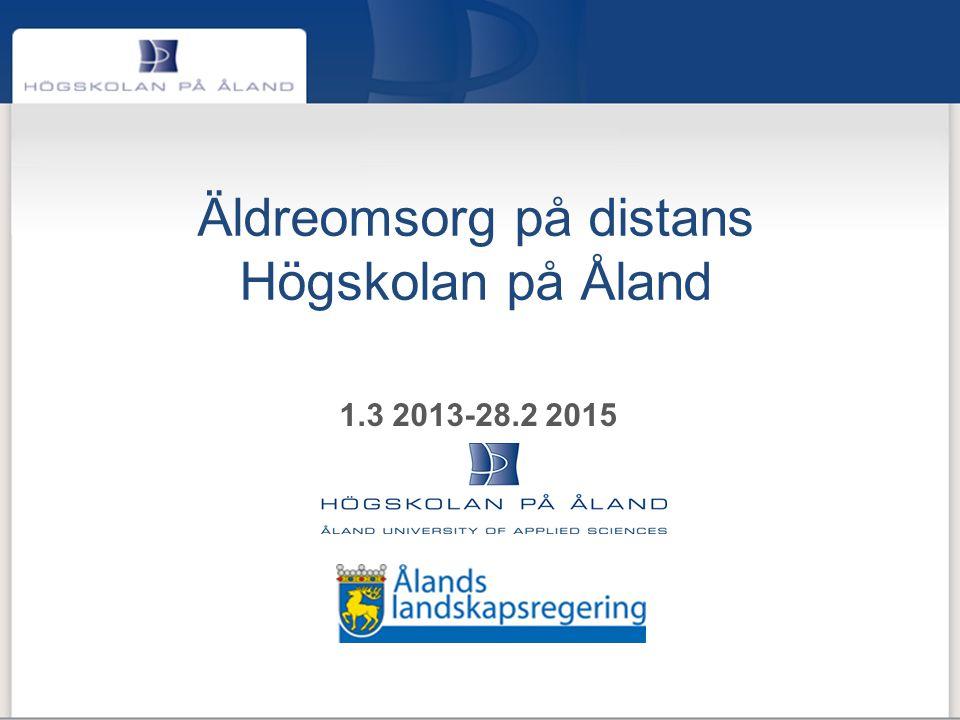 Äldreomsorg på distans Högskolan på Åland