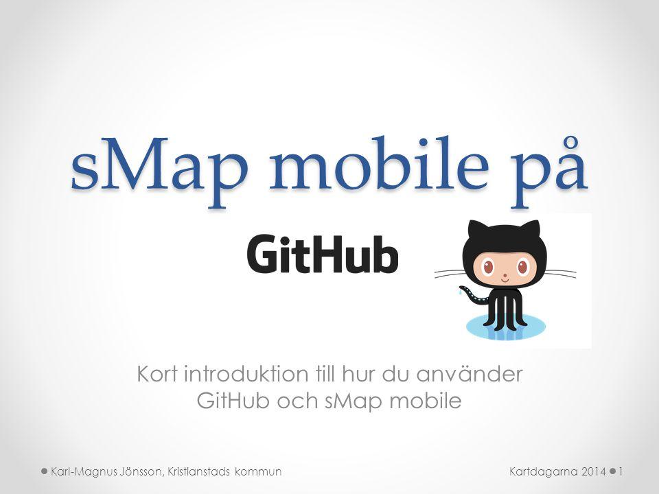 Kort introduktion till hur du använder GitHub och sMap mobile