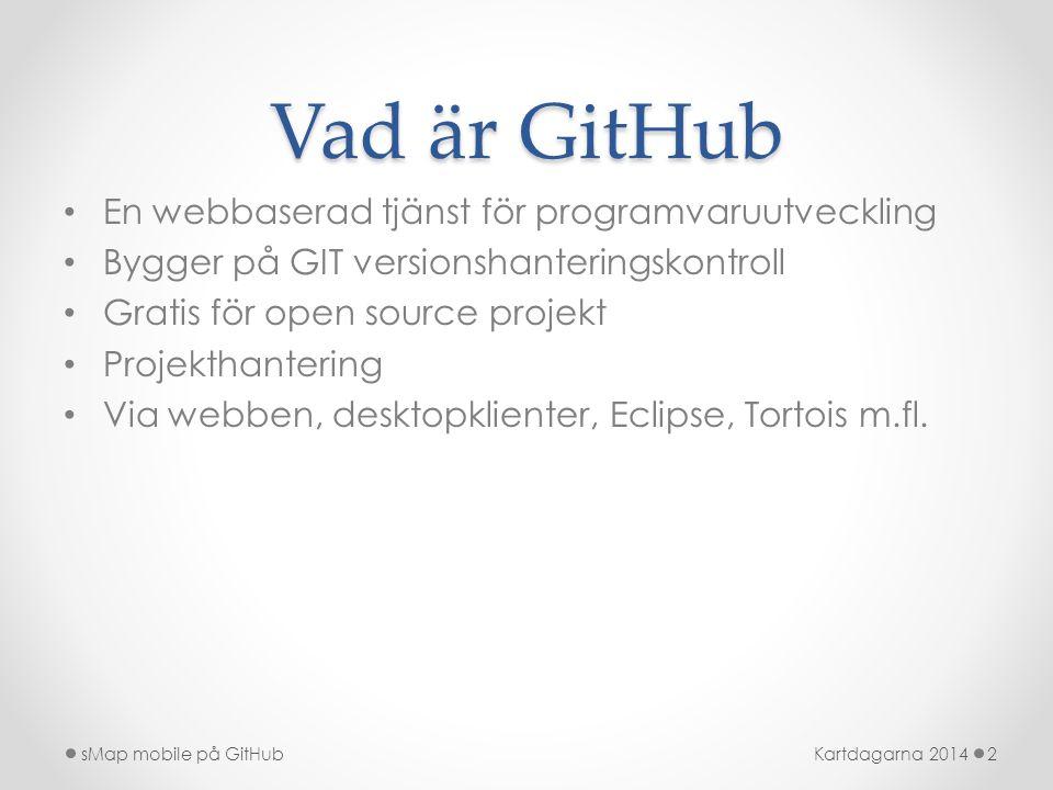 Vad är GitHub En webbaserad tjänst för programvaruutveckling