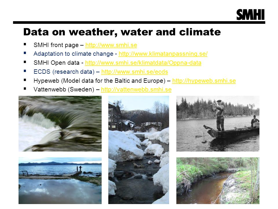 Data on weather, water and climate