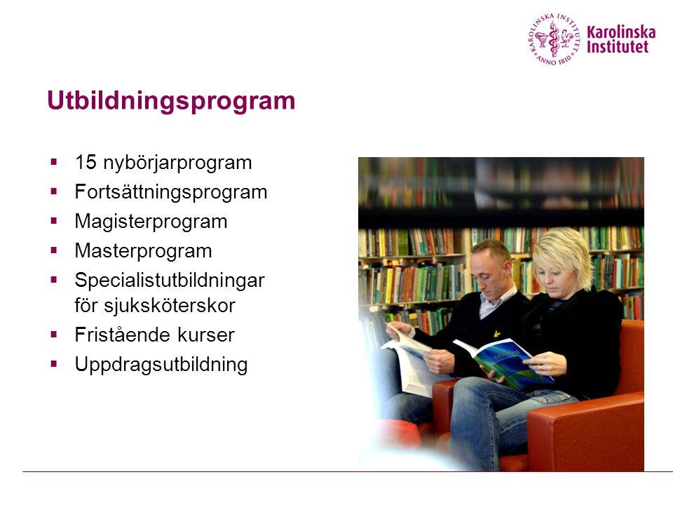 Utbildningsprogram 15 nybörjarprogram Fortsättningsprogram