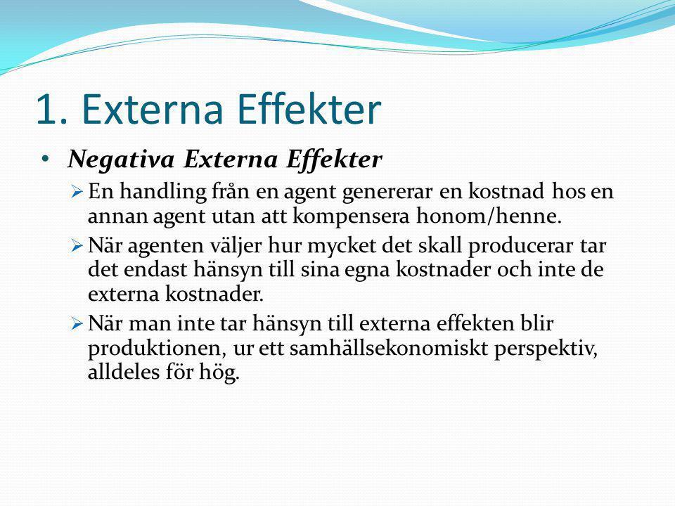 1. Externa Effekter Negativa Externa Effekter
