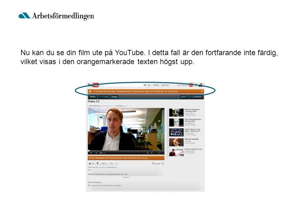 Nu kan du se din film ute på YouTube