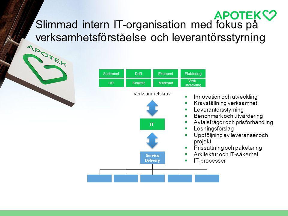 Slimmad intern IT-organisation med fokus på verksamhetsförståelse och leverantörsstyrning