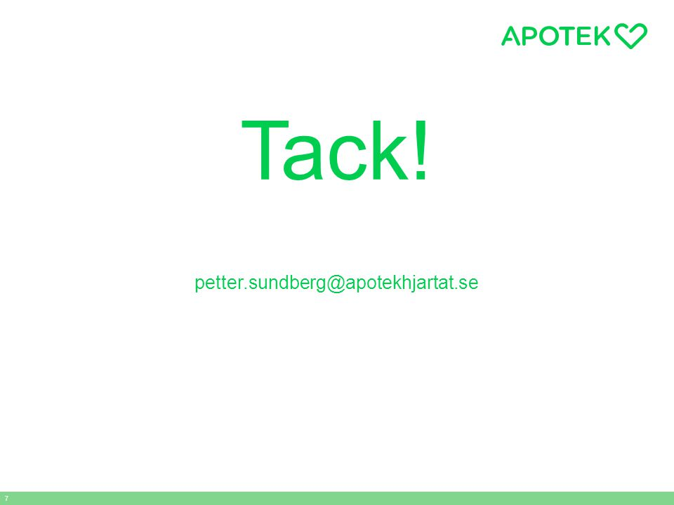 Tack! petter.sundberg@apotekhjartat.se