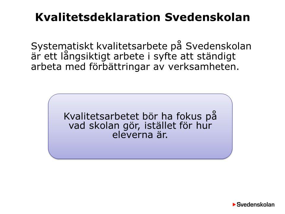 Kvalitetsdeklaration Svedenskolan