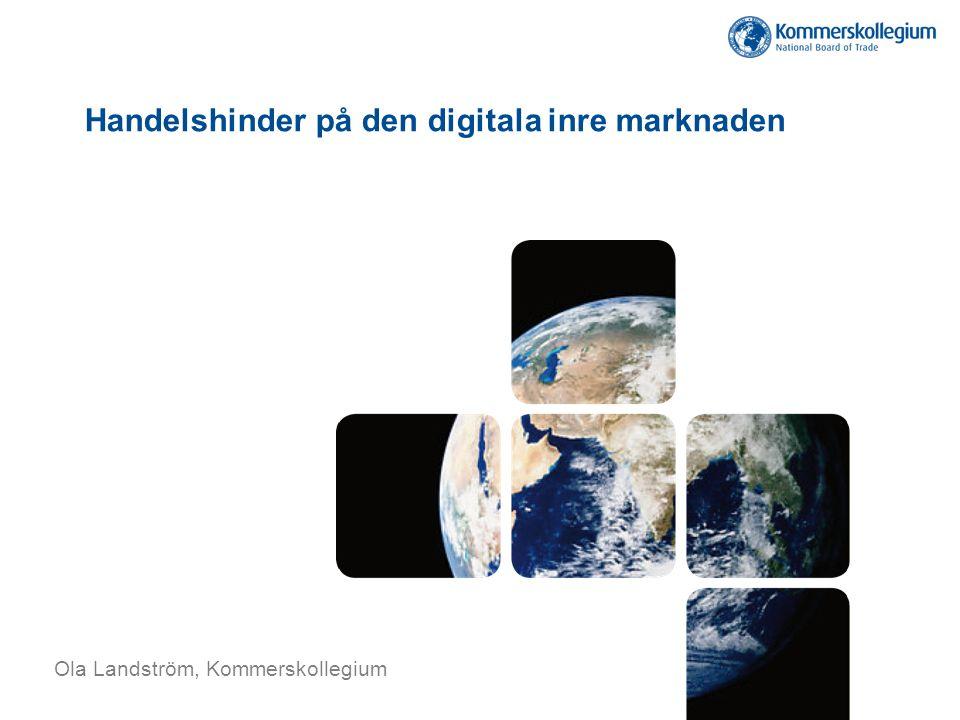 Handelshinder på den digitala inre marknaden