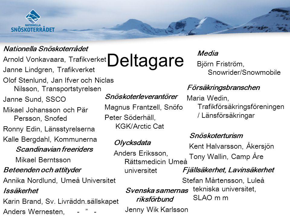 Deltagare Nationella Snöskoterrådet Arnold Vonkavaara, Trafikverket
