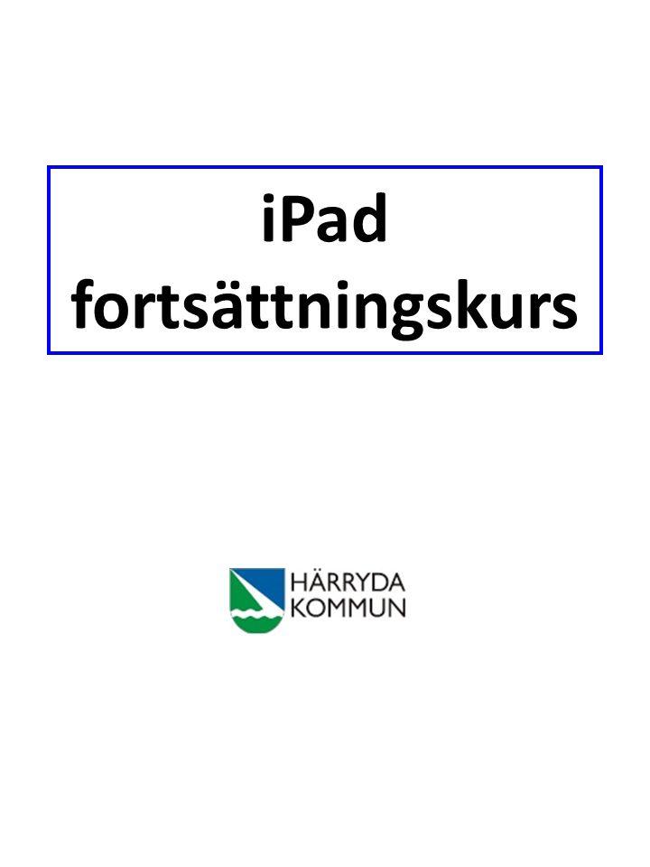 iPad fortsättningskurs