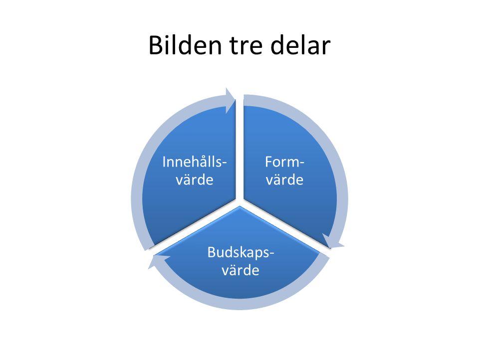 Bilden tre delar Form-värde Budskaps-värde Innehålls-värde