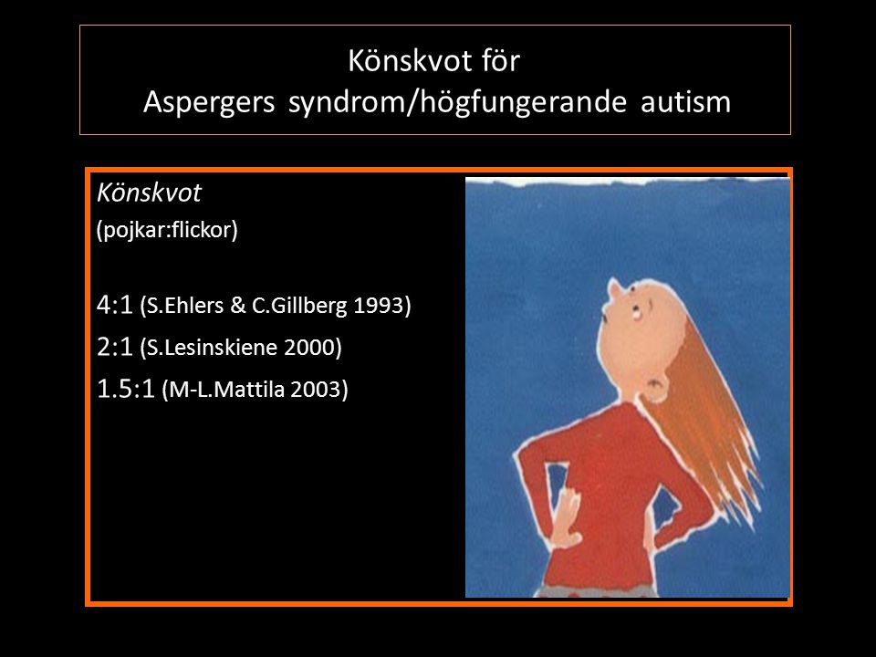 Könskvot för Aspergers syndrom/högfungerande autism