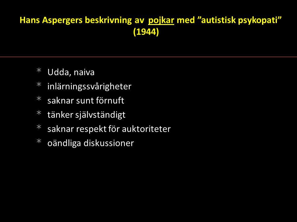 Hans Aspergers beskrivning av pojkar med autistisk psykopati (1944)