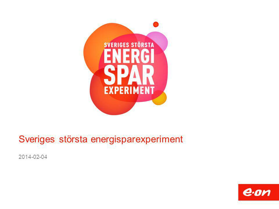 Sveriges största energisparexperiment