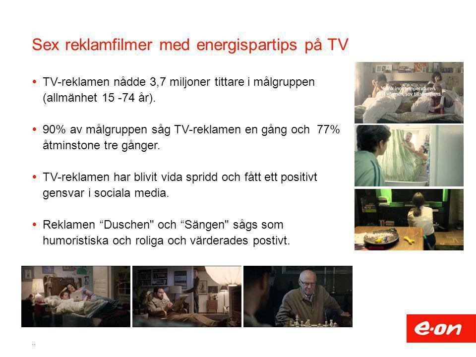Sex reklamfilmer med energispartips på TV
