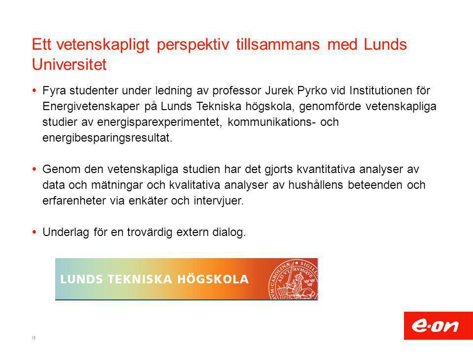 Ett vetenskapligt perspektiv tillsammans med Lunds Universitet