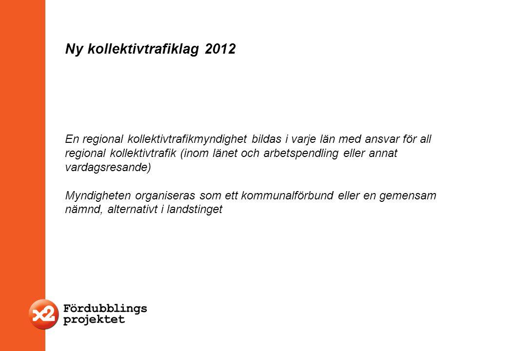 Ny kollektivtrafiklag 2012