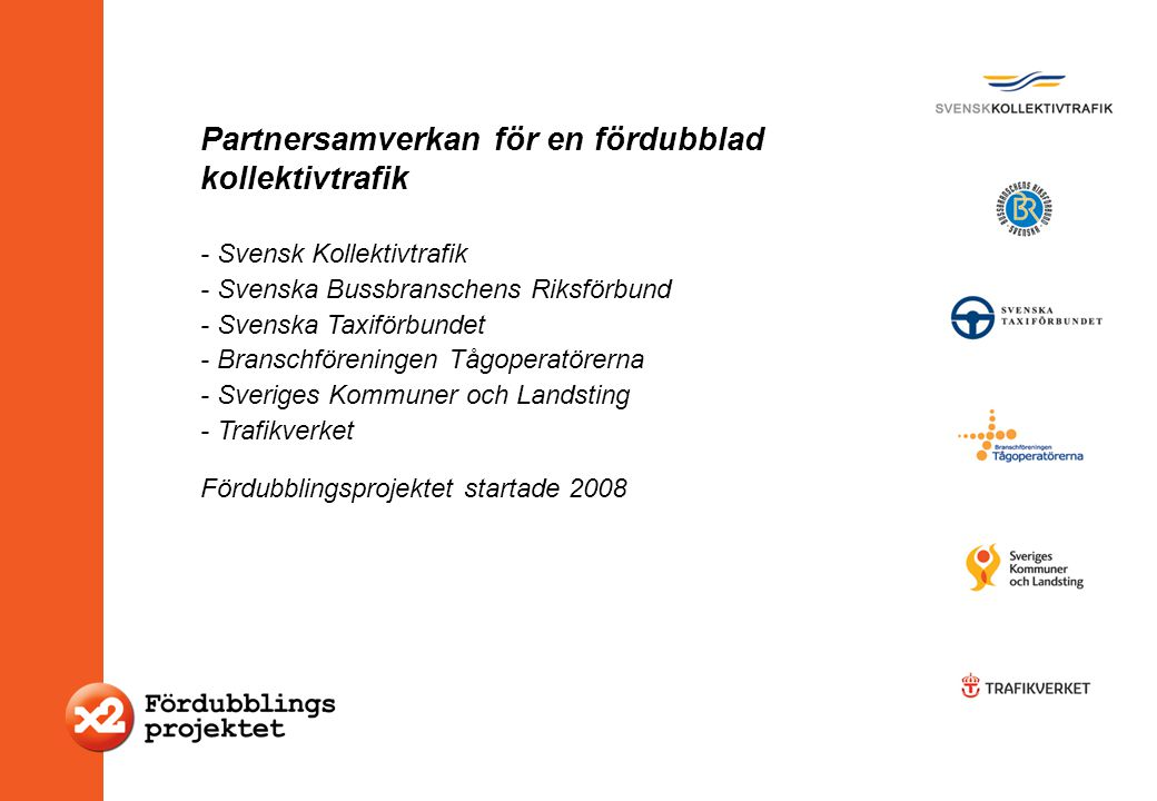 Partnersamverkan för en fördubblad kollektivtrafik