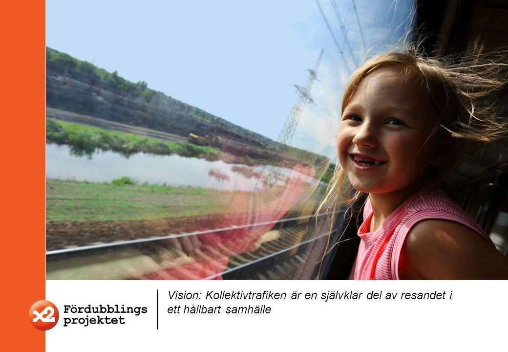 Vision: Kollektivtrafiken är en självklar del av resandet i ett hållbart samhälle
