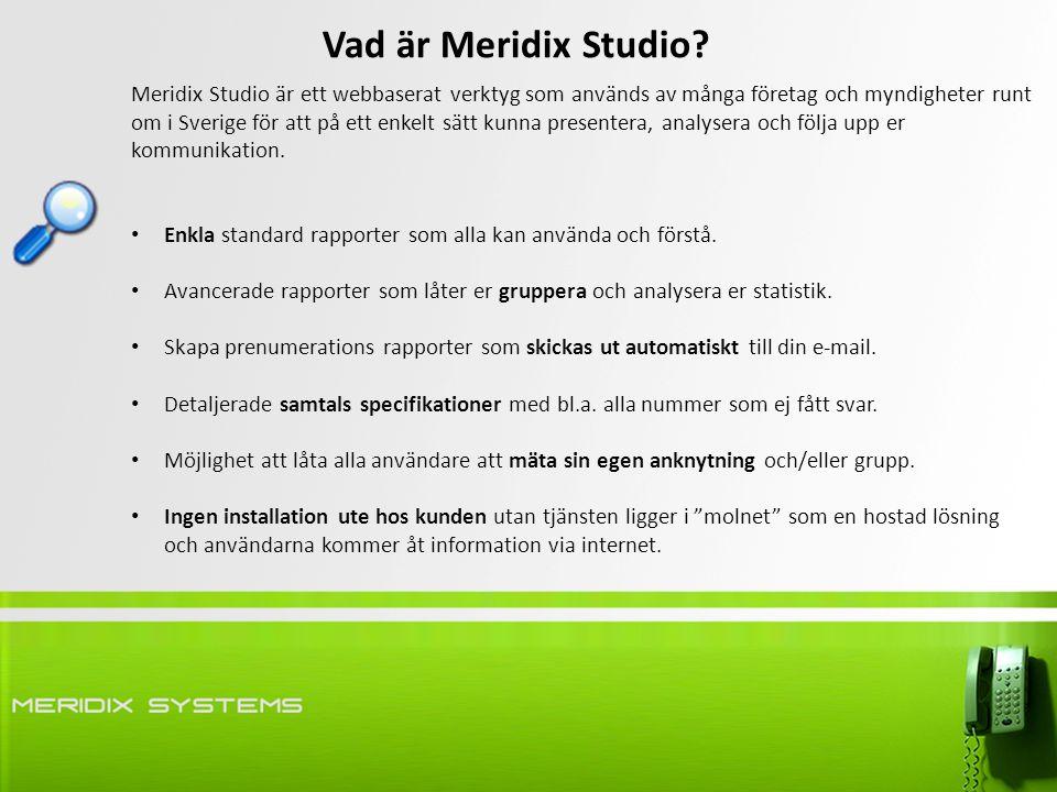 Vad är Meridix Studio