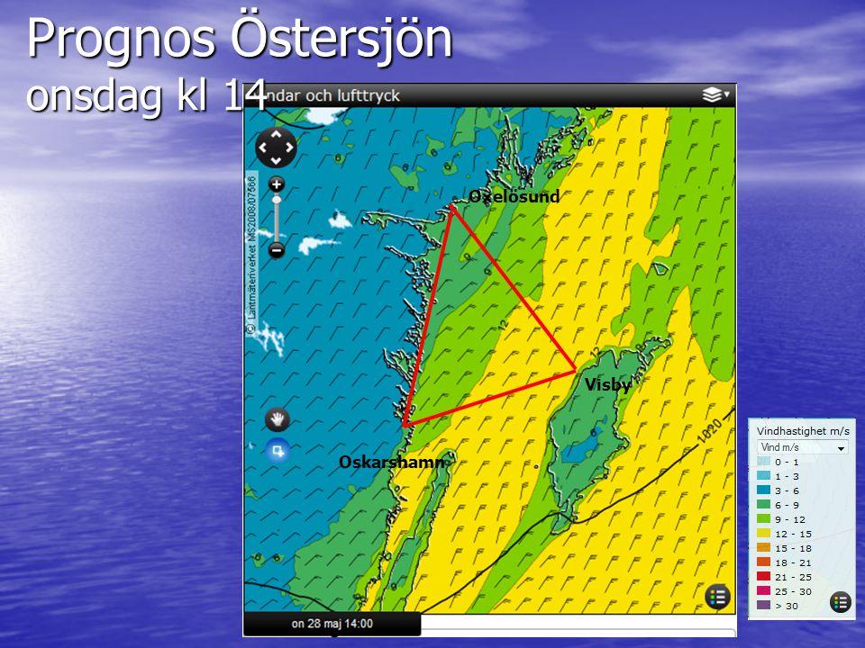 Prognos Östersjön onsdag kl 14