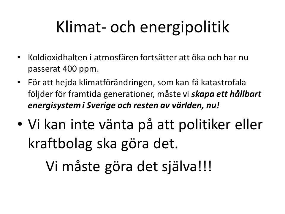 Klimat- och energipolitik
