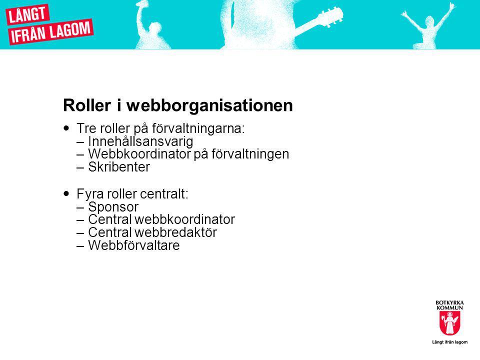 Roller i webborganisationen