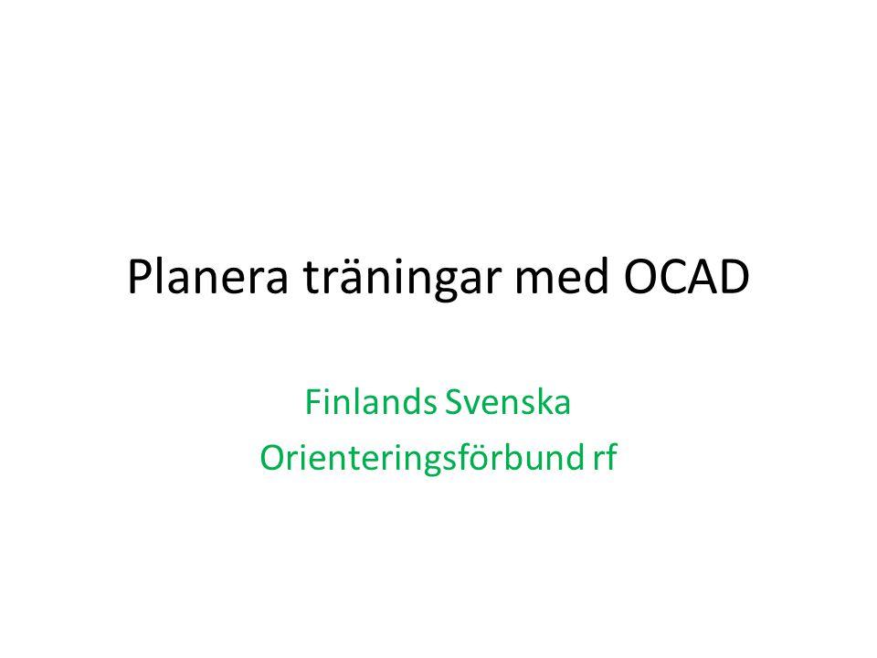 Planera träningar med OCAD