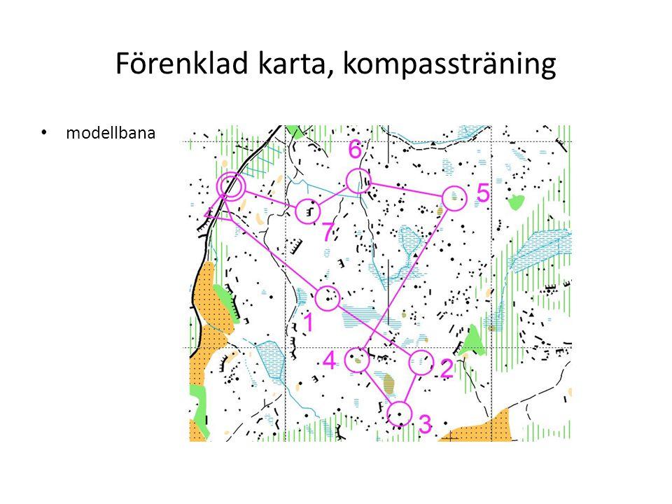 Förenklad karta, kompassträning