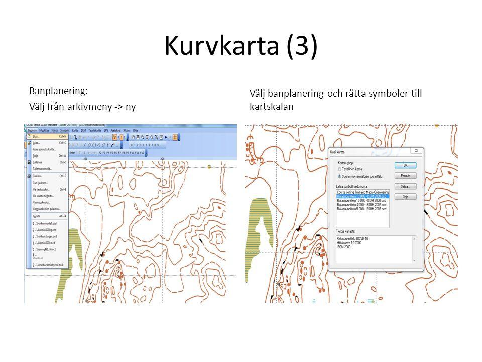 Kurvkarta (3) Banplanering: