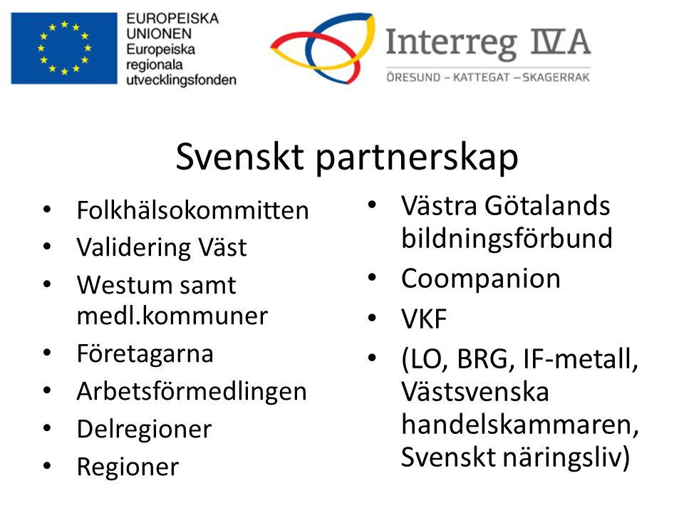 Svenskt partnerskap Västra Götalands bildningsförbund Coompanion VKF