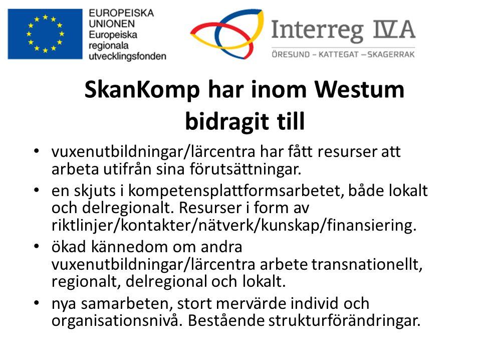 SkanKomp har inom Westum bidragit till