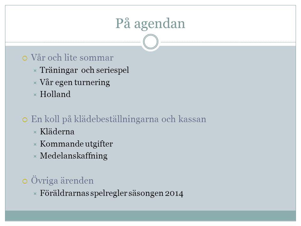 På agendan Vår och lite sommar
