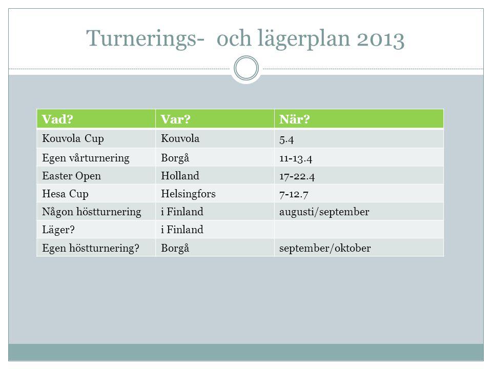 Turnerings- och lägerplan 2013