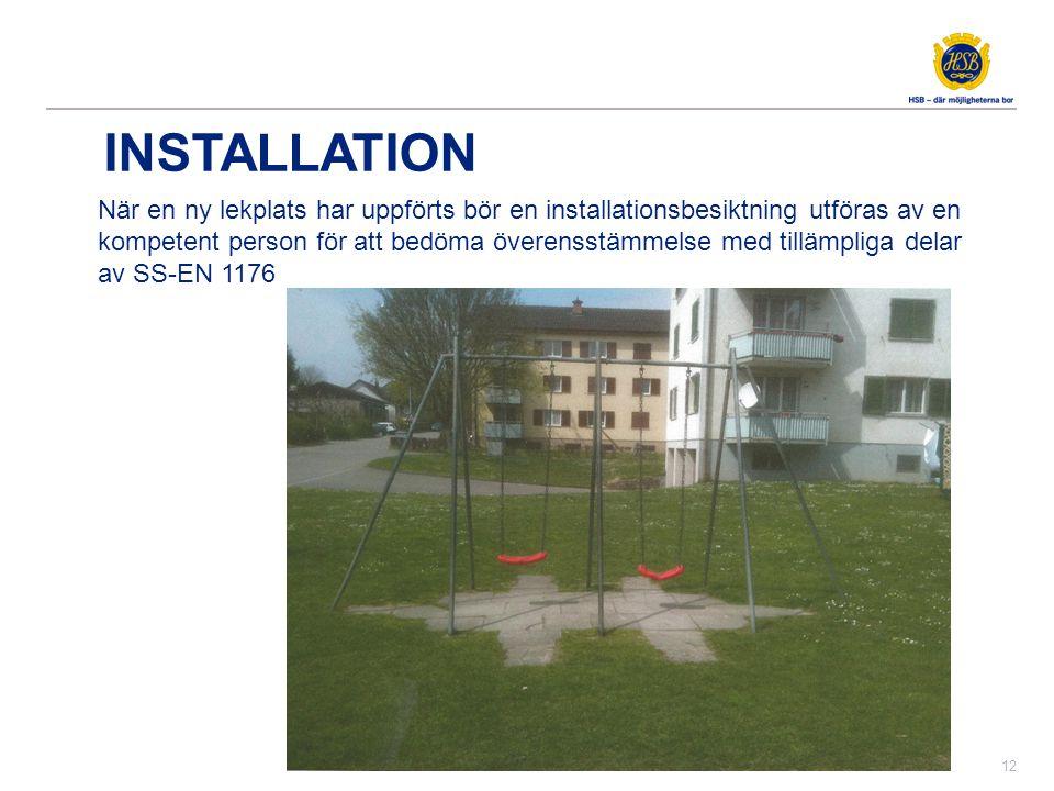 drift och underhållsplanering av lekplatser
