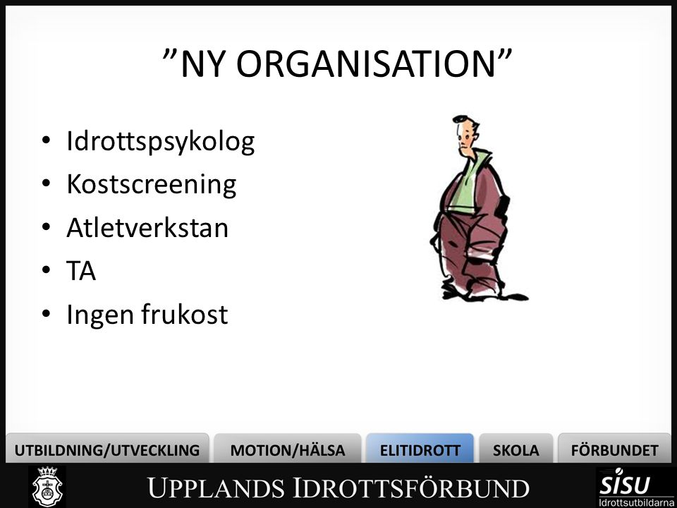 NY ORGANISATION Idrottspsykolog Kostscreening Atletverkstan TA