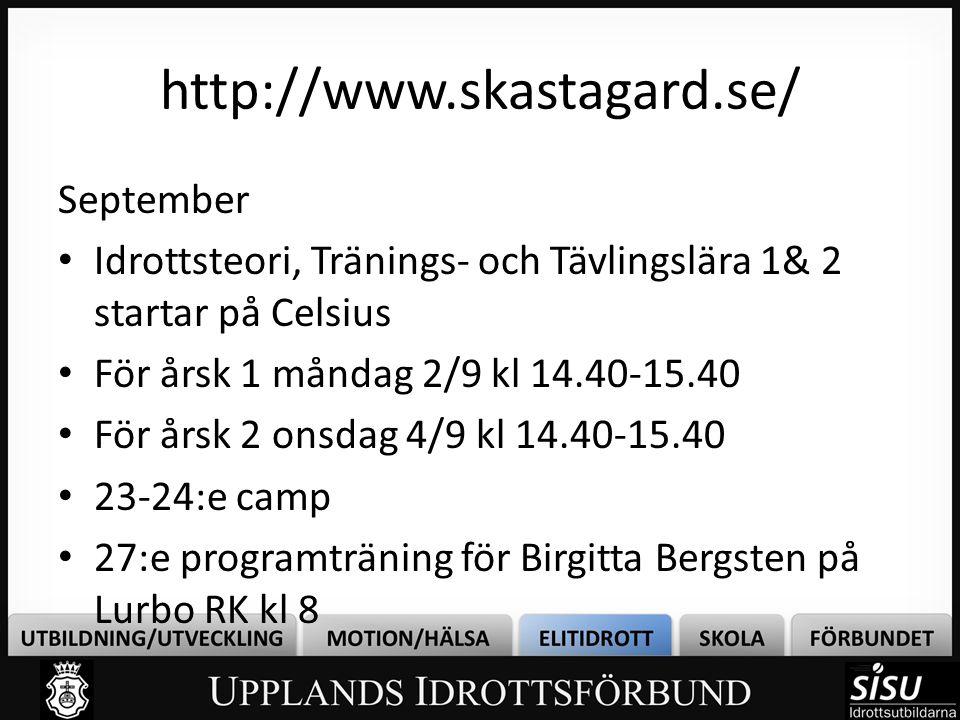 http://www.skastagard.se/ September