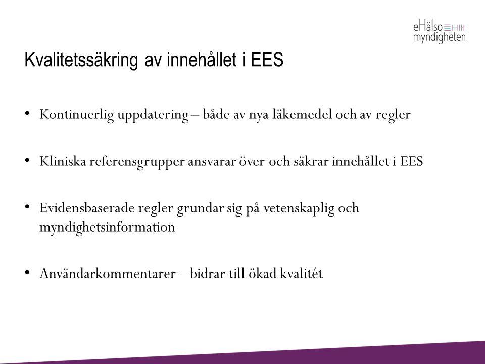 Kvalitetssäkring av innehållet i EES