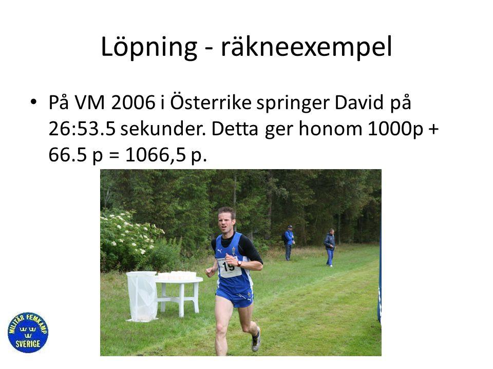 Löpning - räkneexempel